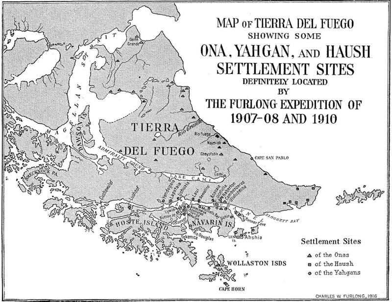 Ancienne carte Terre de Feu