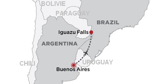 Carte Chûtes Iguazu
